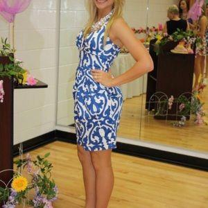 Darling Blue Halter Dress